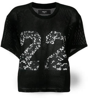 Amiri 22 embroidered net top