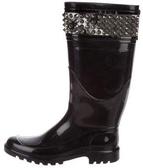 Burberry Embellished Rubber Rain Boots
