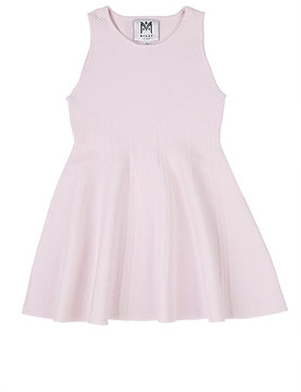 Milly Kids' Piqué-Knit Fit & Flare Dress
