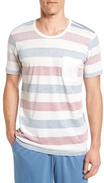 Daniel Buchler Men's Reverse Stripe Pima Cotton & Modal Crewneck T-Shirt