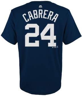 Majestic Boys 4-18 Detroit Tigers Miguel Cabrera Player Name and Number Tee