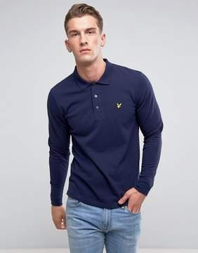 Lyle & Scott Long Sleeve Logo Polo Shirt Navy