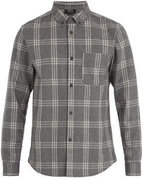 A.P.C. Fitz single-cuff wool-blend felt shirt