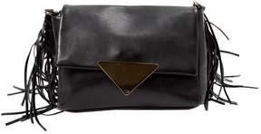 Sara Battaglia Black Leather Handbag