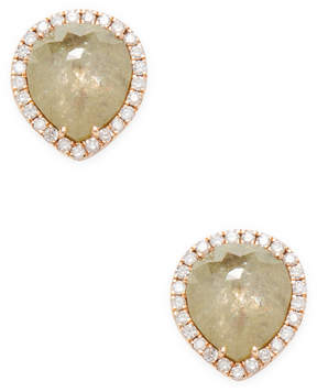 Artisan Women's 18K Rose Gold Pear-Cut Diamond Stud Earrings