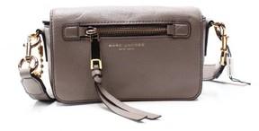 Marc Jacobs Gray Mink Leather Recruit Flap Crossbody Bag Purse - GRAYS - STYLE