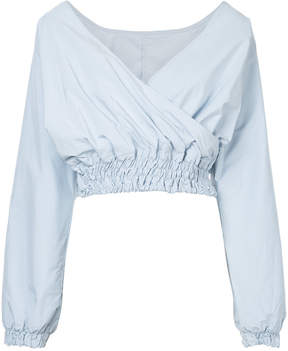 CITYSHOP v-neck cropped blouse