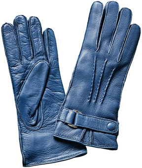 Portolano Uniform Blue Deerskin Gloves