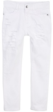 Bebe Distressed White Jeans (Toddler & Little Girls)