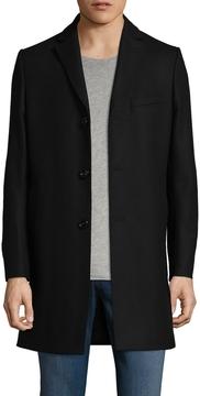 J. Lindeberg Men's Wool Wolger Compact Melton Coat