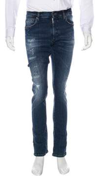 Dirk Bikkembergs Distressed Skinny Jeans