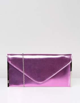 Faith Metallic Envelope Clutch Bag
