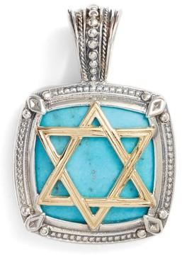 Konstantino Men's Heonos Star Of David Turquoise Pendant