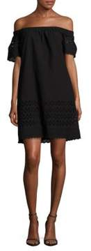 Donna Morgan Off-The-Shoulder Eyelet Dress