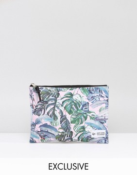 Hype Exclusive Pastel Garden Palm Print Pouch