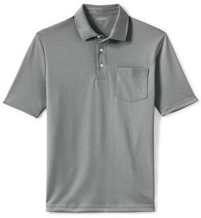 Lands' End Lands'end Men's Supima Short Sleeve Polo Shirt with Pocket