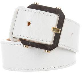 Celine Leather Buckle Belt