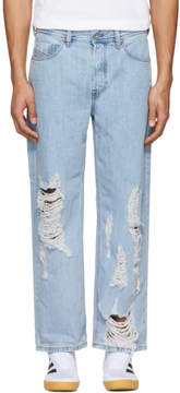 Diesel Blue Distressed Dagh Jeans