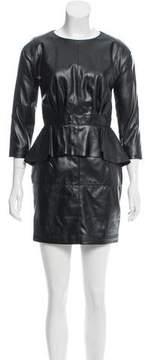 Amen Ecoleather Rouche Dress