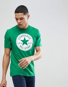 Converse T-Shirt With Chuck Print In Green 10006049-A02