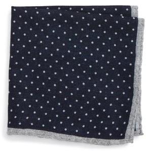 Eleventy Men's Dot Wool Pocket Square
