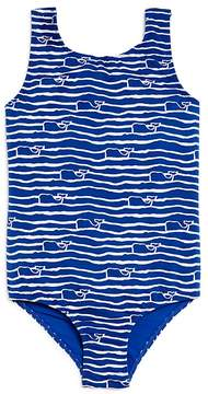 Vineyard Vines Girls' Whale Wave Swimsuit - Little Kid, Big Kid