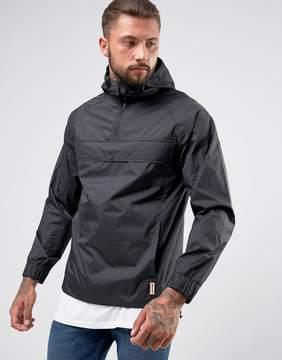 Hunter Lightweight Half Zip Jacket in Black