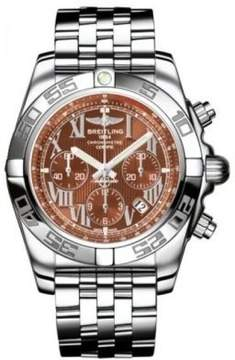 Breitling Chronomat 44 Amber Dial Stainless Steel Automatic Men's Watch