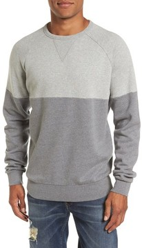 French Connection Men's Multi Melange Colorblock Sweatshirt