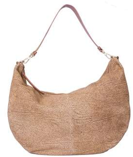 Borbonese Women's Brown Leather Shoulder Bag.