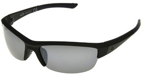 Champion C9 Men's Semi Rimless Polarized Performance Sunglasses with Smoke Lenses - Black - C9 by