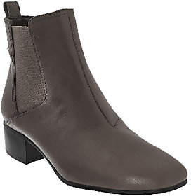 Halston H by Gored Leather Ankle Boots - Alison