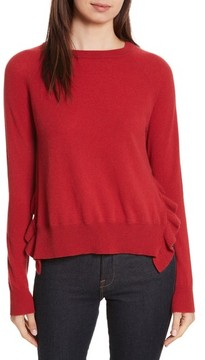 Autumn Cashmere Women's Cashmere Side Ruffle Sweater