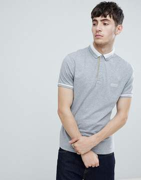 Barbour International Throttle Trim Polo in Gray