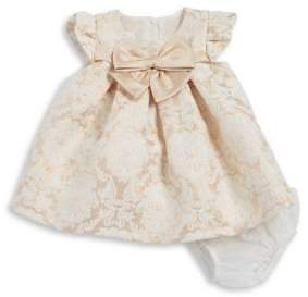 Iris & Ivy Baby Girl's Two-Piece Metallic Patterned Dress and Elasticized Bloomers Set