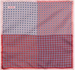 Eton Silk Contrast Mosaic Pocket Square