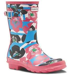 Hunter Floral Stripe Rain Boots