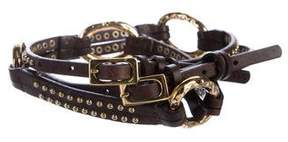 Diane von Furstenberg Embellished Leather Waist Belt