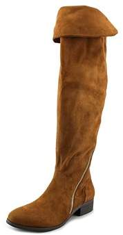 Report Signature Gwyneth Women Round Toe Leather Over The Knee Boot.