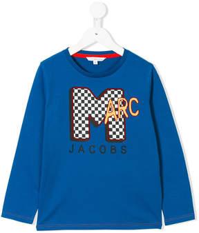 Little Marc Jacobs logo print long sleeve top