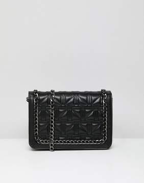 Asos DESIGN Square Quilt Chain Cross Body Bag
