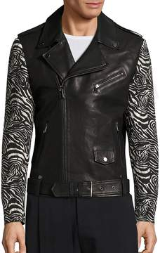 Les Benjamins Men's Dancers of the Sand Zaire Leather Moto Jacket
