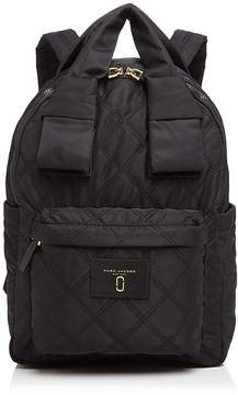 Marc Jacobs Knot Large Quilted Nylon Backpack - BLACK - STYLE