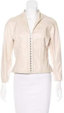 Amanda Wakeley Long Sleeve Leather Jacket