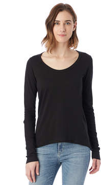 Alternative Apparel Rib Sleeve Satin Jersey T-Shirt