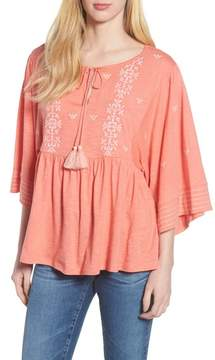 Caslon Embroidered Peasant Top