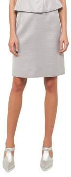 Akris Punto Metallic A-Line Skirt