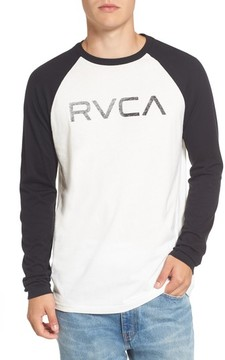 RVCA Men's Logo Graphic Long Sleeve T-Shirt