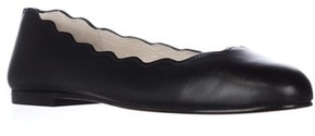 French Sole Jigsaw Ballet Flats, Black Leather.