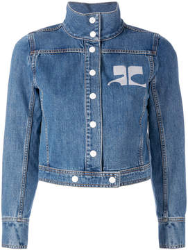 Courreges embroidered logo denim jacket